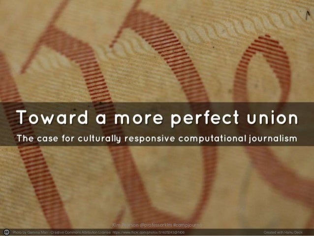 Toward a More Perfect Union: The Case for Culturally Responsive Computational Journalism