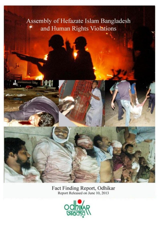 Odhikar's Fact Finding Report/5 and 6 May 2013/Hefazate Islam, Motijheel/Page-1