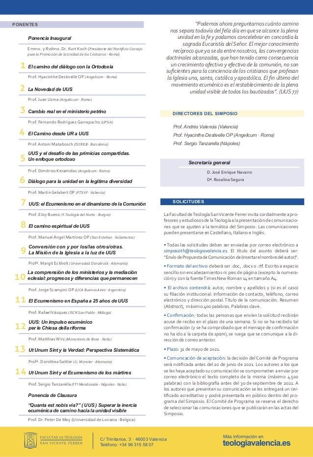 XIX Simposio Internacional Teología Histórica (Valencia 24 - 26 noviembre 2021) Slide 2