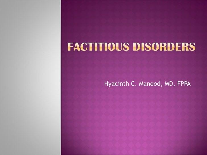 Hyacinth C. Manood, MD, FPPA
