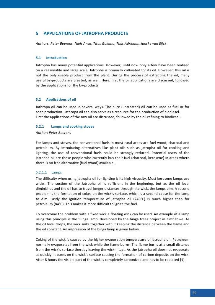 5     APPLICATIONSOFJATROPHAPRODUCTS    Authors:PeterBeerens,NielsAnsø,TitusGalema,ThijsAdriaans,Janske...