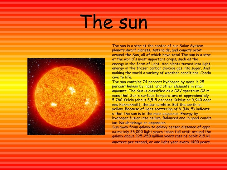Image result for sun fact
