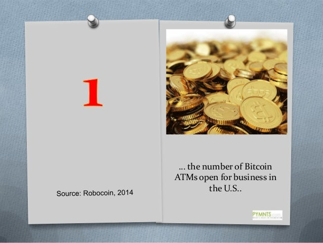 … the number of Bitcoin ATMs open for business in the U.S..