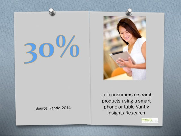…of consumers research products using a smart phone or table Vantiv Insights Research