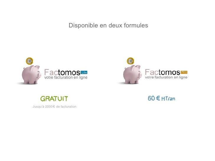 Disponible en deux formules     Jusqu'à 2000€ de facturation                                          • Cochomètre (graph ...