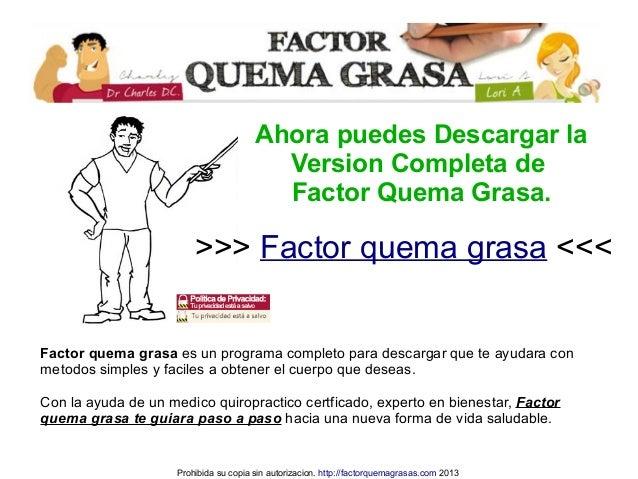 Factor Quema Grasa Descargar Completo Slide 2