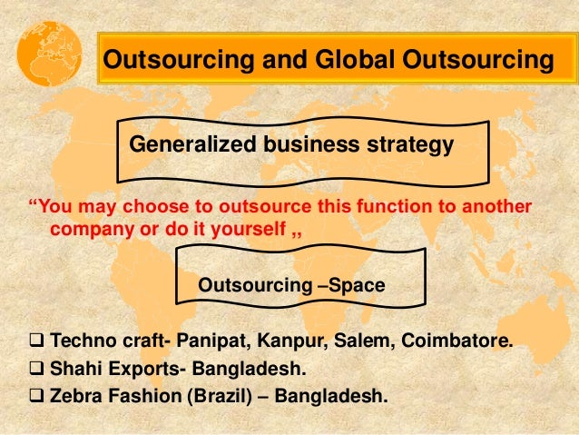 global outsourcing in the textile industry Keywords: textile supply chain outsourcing cost capacity flexibility risk  in the  textile industry, international outsourcing provides significant.