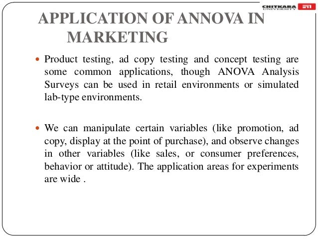 one way annova In order to test for the equality of means and to assess the differences between pairs of means, the analyst uses one-way anova with multiple comparisons open the sample data, painthardnessmtw open the one-way anova dialog box.