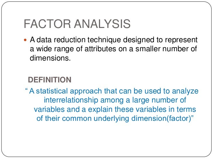 Analysis Factor 110