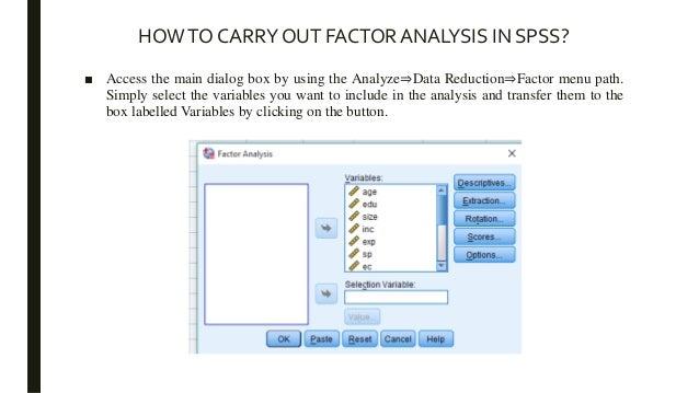 factor analysis spss output interpretation pdf