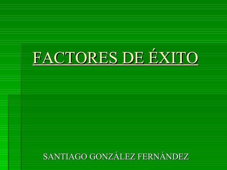FACTORES DE ÉXITO SANTIAGO GONZÁLEZ FERNÁNDEZ