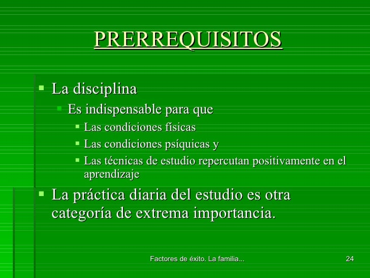 PRERREQUISITOS <ul><li>La disciplina </li></ul><ul><ul><li>Es indispensable para que </li></ul></ul><ul><ul><ul><li>Las co...