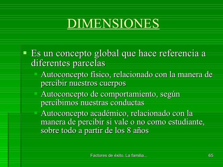 DIMENSIONES <ul><li>Es un concepto global que hace referencia a diferentes parcelas </li></ul><ul><ul><li>Autoconcepto fís...