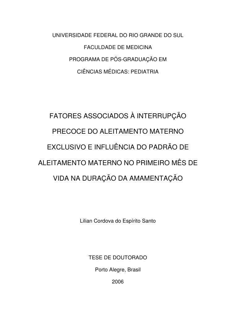 UNIVERSIDADE FEDERAL DO RIO GRANDE DO SUL              FACULDADE DE MEDICINA          PROGRAMA DE PÓS-GRADUAÇÃO EM        ...