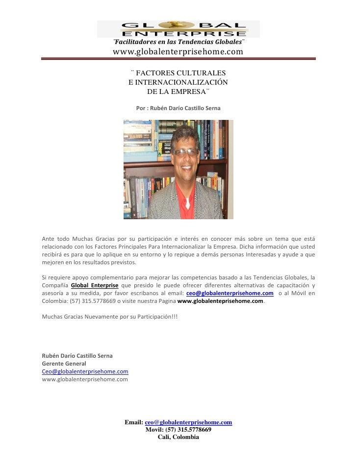 ¨Facilitadores en las Tendencias Globales¨                           www.globalenterprisehome.com                         ...