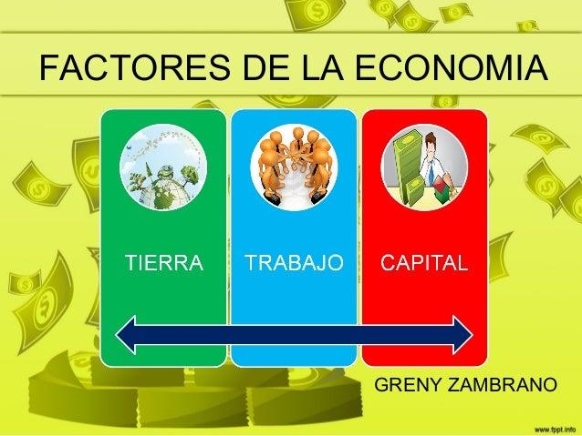 FACTORES DE LA ECONOMIAGRENY ZAMBRANO