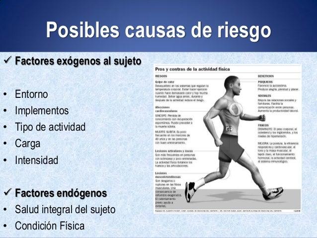 Factores de riesgo en la actividad física