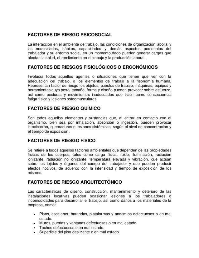 FACTORES DE RIESGO PSICOSOCIALLa interacción en el ambiente de trabajo, las condiciones de organización laboral ylas neces...
