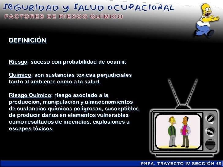 Factores de riesgo químico (presentación) Slide 3