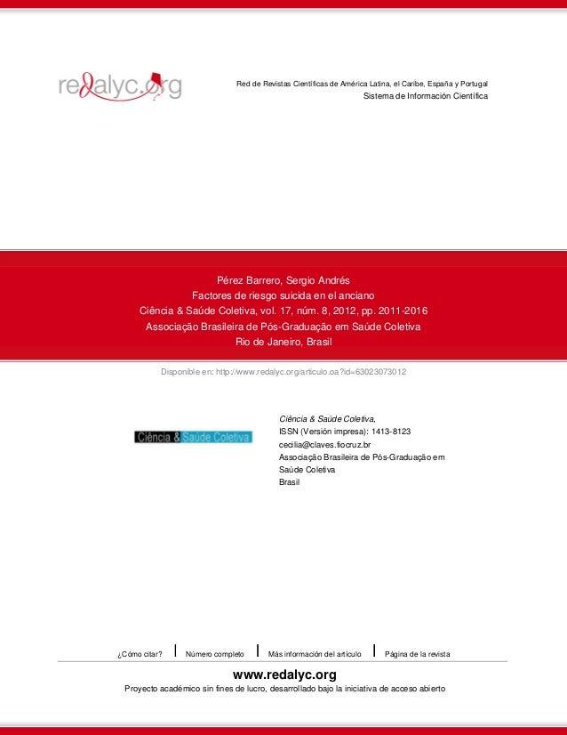 Disponible en: http://www.redalyc.org/articulo.oa?id=63023073012 Red de Revistas Científicas de América Latina, el Caribe,...