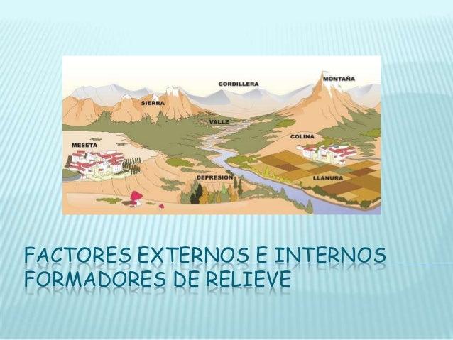 Factores externos e internos formadores de relieve for Interno s