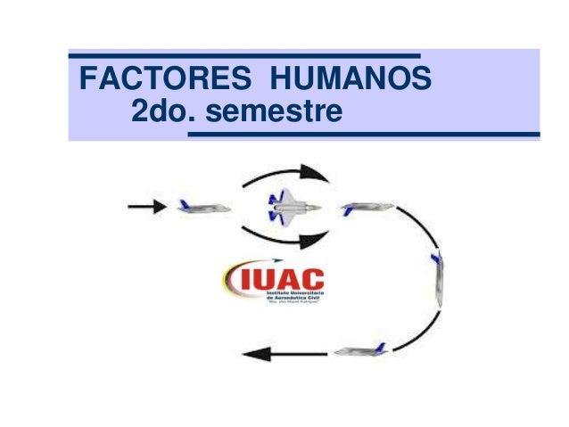 FACTORES HUMANOS  2do. semestre