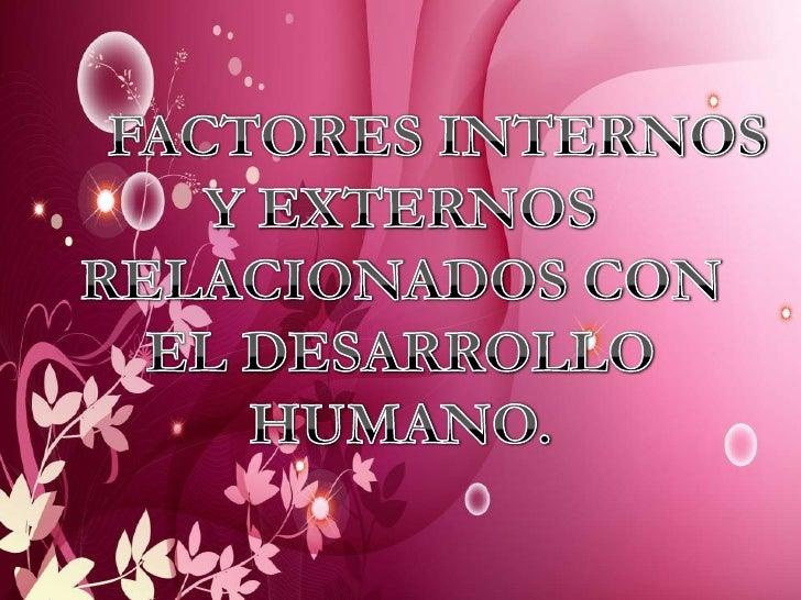 Factores Internos Y Externos Relacionados Con El