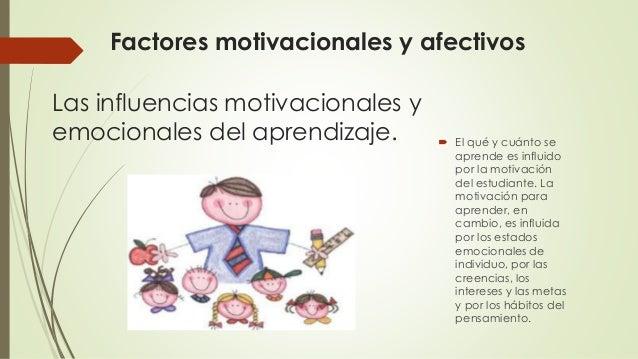 Factores Que Influyen En El Aprendizaje