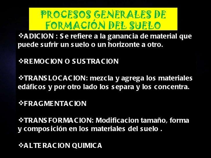 Factores y procesos de formacion de los suelos for Proceso de formacion del suelo