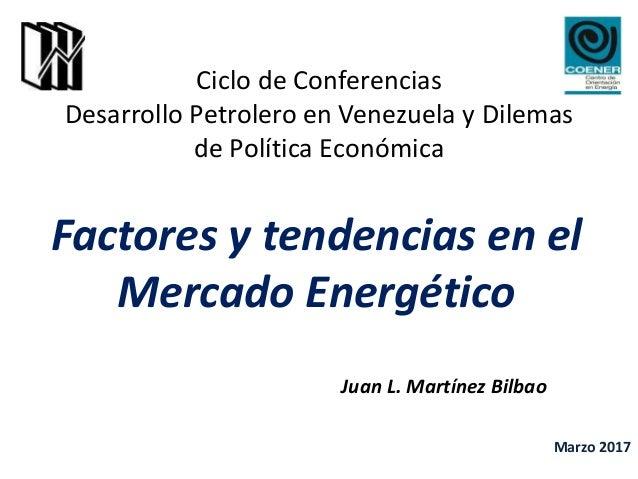 Ciclo de Conferencias Desarrollo Petrolero en Venezuela y Dilemas de Política Económica Factores y tendencias en el Mercad...
