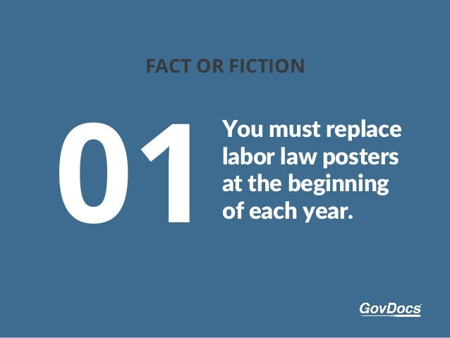 Fact or Faction: 7 Labor Law Poster Myths Slide 3