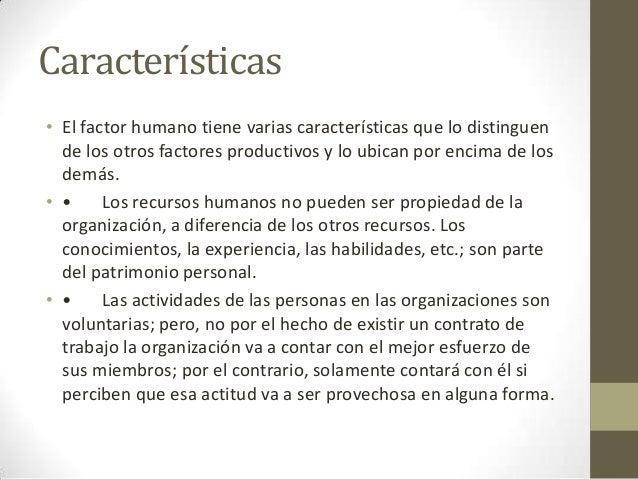 Factor humano for La oficina caracteristicas