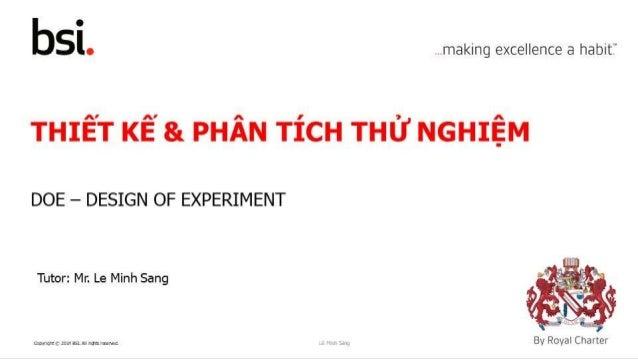 Thiết kế và phân tích thử nghiệm (DOE - Design of Experiment)