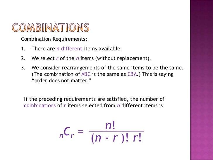 permutation and combination formula pdf