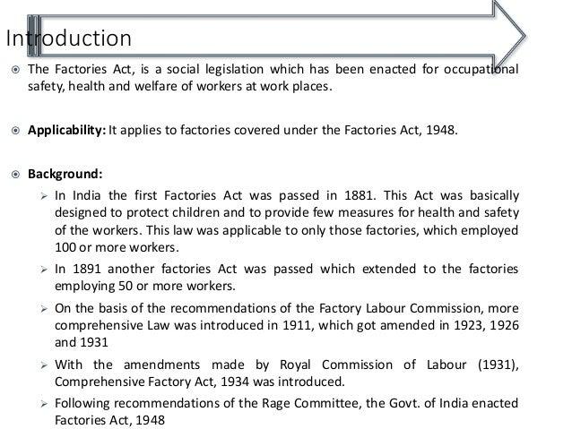Factories Act 1948 Pdf