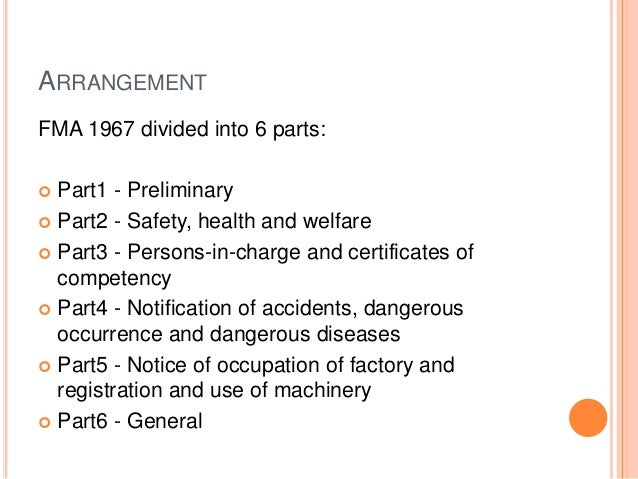 Factories And Machinery Act 1967 Fma 1967