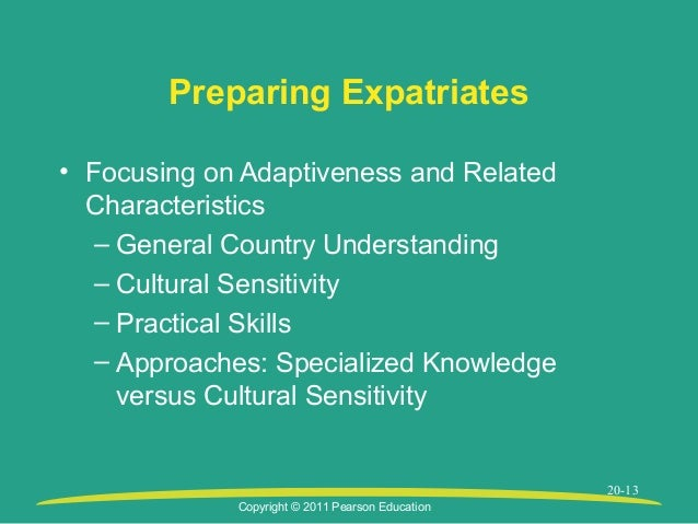 compensating expatriates Strategic compensation a human resource management approach  chapter 14 compensating expatriates 320 competitive advantage and how international activities.