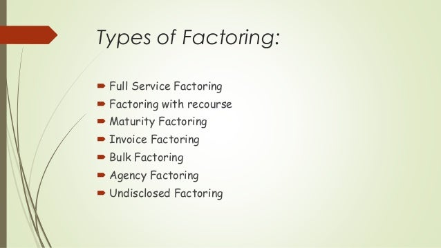 Debt Collection Agency >> Factoring