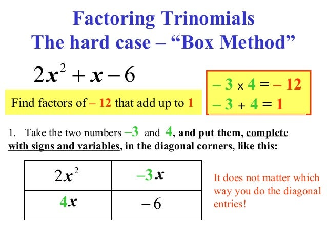 Factoring Ax2 Bx C Practice And Problem Solving A B