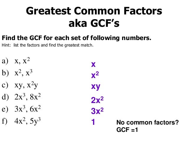 Factoring GCF and Grouping
