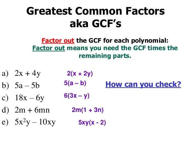 8-2 problem solving factoring by gcf answers