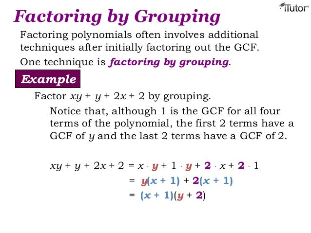 General guidelines for factoring polynomials.
