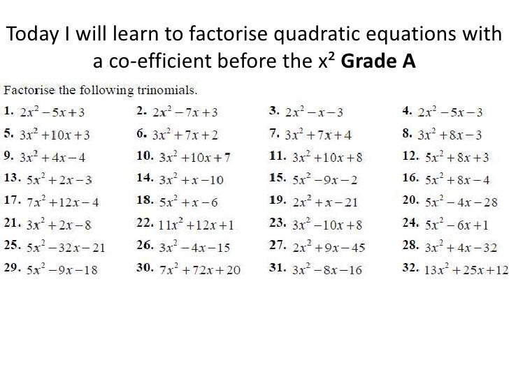 how to solve quadratic equations with brckets