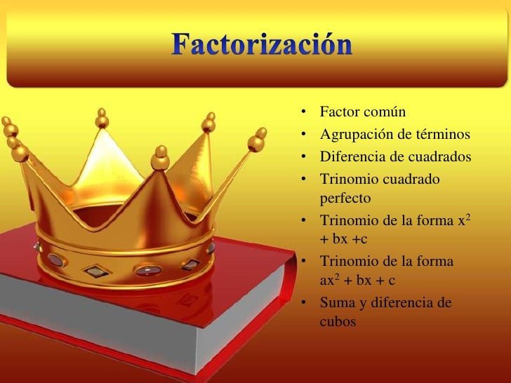 Factorización<br /><ul><li>Factor común