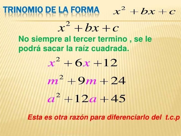 FACTORIZACION DE LA FORMA X2 BX C PDF