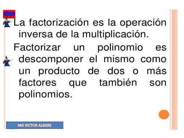 FACTORIZACION PORDIFERENCIA DE CUADRADOSUna diferencia de cuadrados es igual asuma por diferencia.FORMULA = a2 − b2 = (a +...