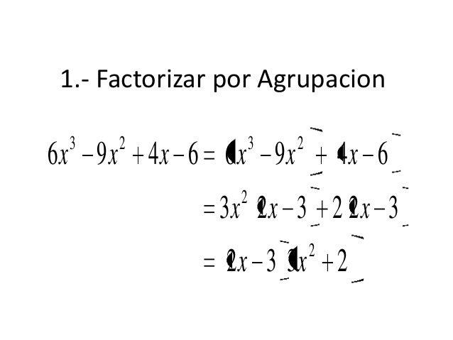 3.- Factorizar el polinomio1121221221222222222323xxxxxxxxxxxxxxxxx