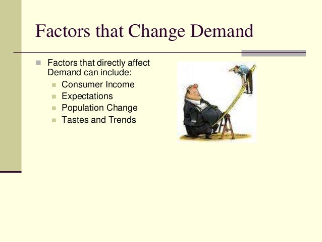 the factors which affect demand essay The labor market demand curve is the mrpl curve  factors that can affect a  shift of the curve are changes.