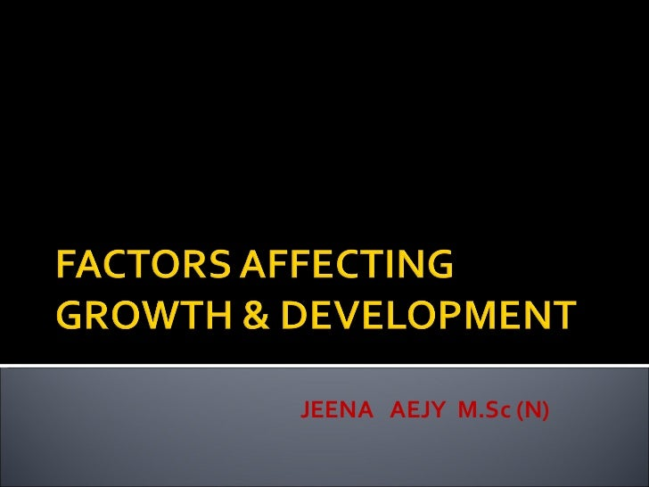 factors that affect development of a child