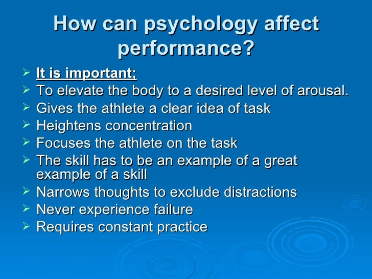 the factors of psychology affecting the Year two psychology what the  informational social influence and normative social influence, and variables affecting conformity  other factors that may.